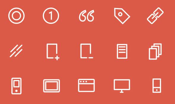 3px Icons Set