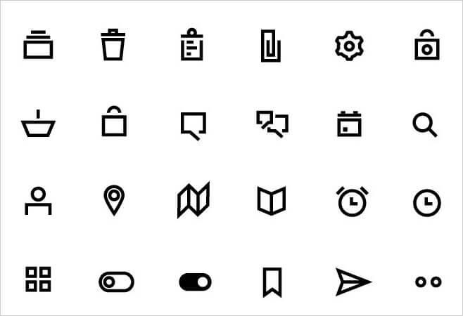Minima Line Icons