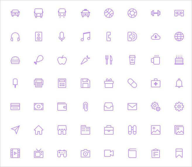 16px grid icons