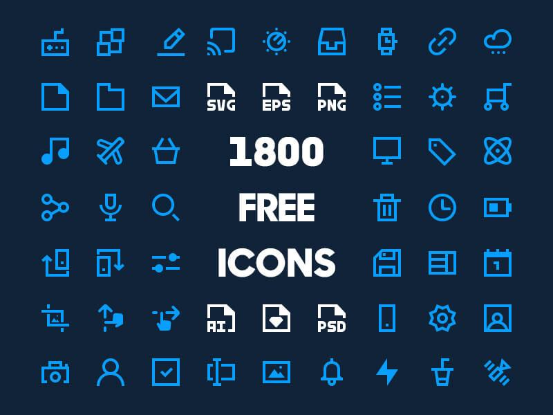 1800 Free Minimal Icons