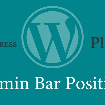 WordPressの管理バーを下に移動するプラグイン「Admin Bar Position」